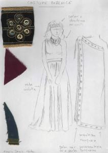 Maquette costume Bérénice