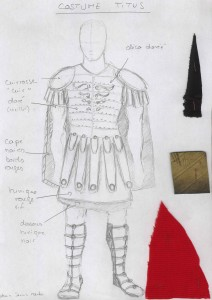 Maquette costume Titus